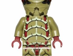 Lego minifigura - Alien Buggoid, Olive Green