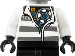 Lego minifigura - Zane - Prison Outfit