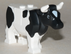 Lego Minifigura - Cow with Black Spots Pattern
