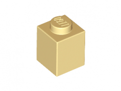 Lego alkatrész - Tan Brick 1x1