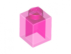Lego alkatrész - Trans-Dark Pink Brick 1x1