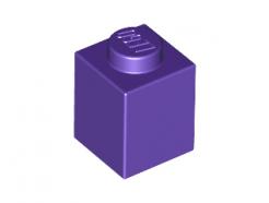 Lego alkatrész - Dark Purple Brick 1x1