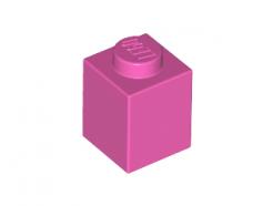 Lego alkatrész - Dark Pink Brick 1x1