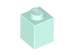 Lego alkatrész - Light Aqua Brick 1x1