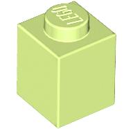 Lego alkatrész - Yellowish Green Brick 1x1