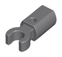 Lego alkatrész - Dark Bluish Gray Bar Holder with Clip