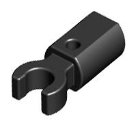 Lego alkatrész - Black Bar Holder with Clip