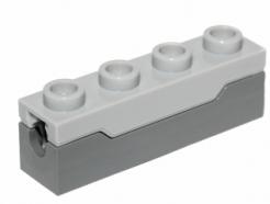 Lego alkatrész - Dark Bluish Gray Spring Shooter with Light Bluish Gray Top - Complete Assembly