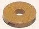 Lego alkatrész - Dark Tan Tile, Round 2x2 with Hole