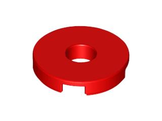 Lego alkatrész - Red Tile, Round 2x2 with Hole