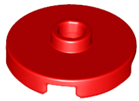 Lego alkatrész - Red Tile, Round 2x2 with Open Stud