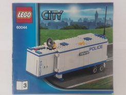 Lego City – Összeszerelési útmutató 60044-3