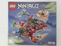 Lego Ninjago – Összeszerelési útmutató 70735-1