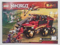 Lego Ninjago – Összeszerelési útmutató 70750-1