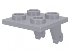 Lego alkatrész - Light Bluish Gray Plate, Modified 2x2 Thin with Plane Single Wheel Holder