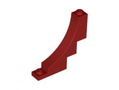 Lego alkatrész - Dark Red Brick, Arch 1x5x4 Inverted
