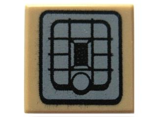 Lego alkatrész - Dark Tan Tile 1x1 with SW Rebel Alliance Jetpack Pattern