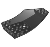 Lego alkatrész - Black Cockpit 10x6x2 Curved