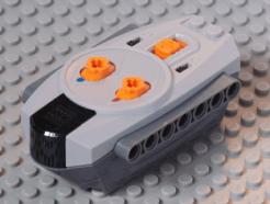 Lego alkatrész - Light Bluish Gray Electric, Power Functions 9V Remote Control Unit with Dark Bluish Gray Bottom