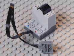 Lego alkatrész - Light Bluish Gray Electric, Power Functions Receiver Unit with Dark Bluish Gray Bottom, Complete Assembly