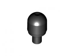 Lego alkatrész - Black Light Cover with Internal Bar / Bionicle Barraki Eye