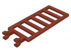 Lego alkatrész - Reddish Brown Bar 7x3 with Double Clips (Ladder)