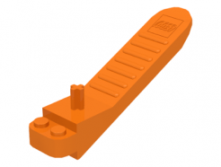 Lego alkatrész - Orange Human Tool, Brick and Axle Separator