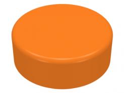 Lego alkatrész - Orange Tile, Round 1x1