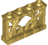 Lego alkatrész - Pearl Gold Fence 1x4x2 Ornamental with 4 Studs