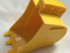 Lego alkatrész - Yellow Technic Digger Bucket 4 x 7