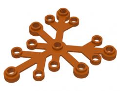 Lego alkatrész - Dark Orange Plant Leaves 6x5