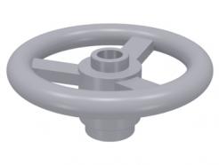 Lego alkatrész - Light Bluish Gray Technic, Steering Wheel Small, 3 Studs Diameter