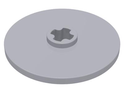 Lego alkatrész - Light Bluish Gray Technic, Disk 3x3