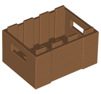Lego alkatrész - Medium Dark Flesh Container, Crate with Handholds