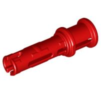 Lego alkatrész - Red Technic, Pin 3L with Friction Ridges Lengthwise and Stop Bush