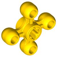 Lego alkatrész - Yellow Technic Knob Wheel