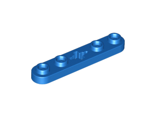 Lego alkatrész - Blue Technic, Plate 1 x 5 with Smooth Ends, 4 Studs and Center Axle Hole