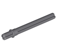 Lego alkatrész - Dark Bluish Gray Technic, Axle 5.5 with Stop