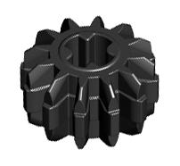 Lego alkatrész - Black Technic, Gear 12 Tooth Double Bevel