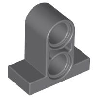 Lego alkatrész - Dark Bluish Gray Technic, Pin Connector Plate 1x2x1 2/3 with 2 Holes (Double on Top)