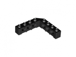 Lego alkatrész - Black Technic, Brick 5x5 Right Angle (1x4 - 1x4)