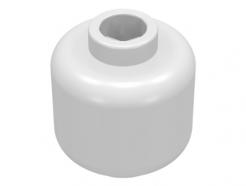 Lego alkatrész - Minifig, Head - Stud Recessed - Foszforeszkáló