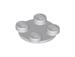 Lego alkatrész - Light Bluish Gray Turntable 2x2 Plate, Top