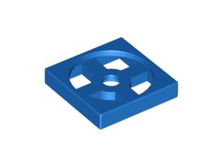 Lego alkatrész - Blue Turntable 2x2 Plate, Base