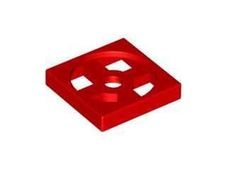 Lego alkatrész - Red Turntable 2x2 Plate, Base