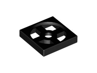 Lego alkatrész - Black Turntable 2x2 Plate, Base