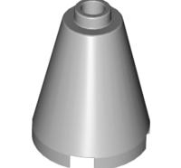 Lego alkatrész - Light Bluish Gray Cone 2x2x2 - Completely Open Stud