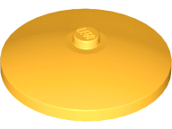 Lego alkatrész - Bright Light Orange Dish 4x4 Inverted (Radar)
