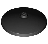 Lego alkatrész - Black Dish 4x4 Inverted (Radar)
