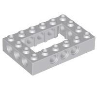 Lego alkatrész - Light Bluish Gray Technic, Brick 4x6 Open Center